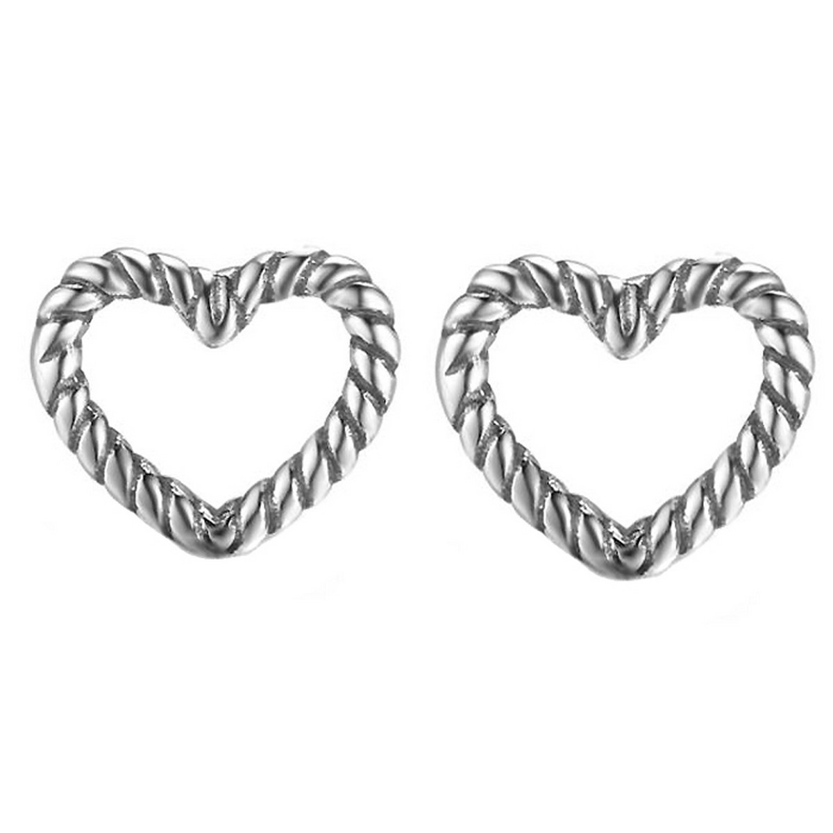 Twisted Hearts | 925 zilver oorbellen