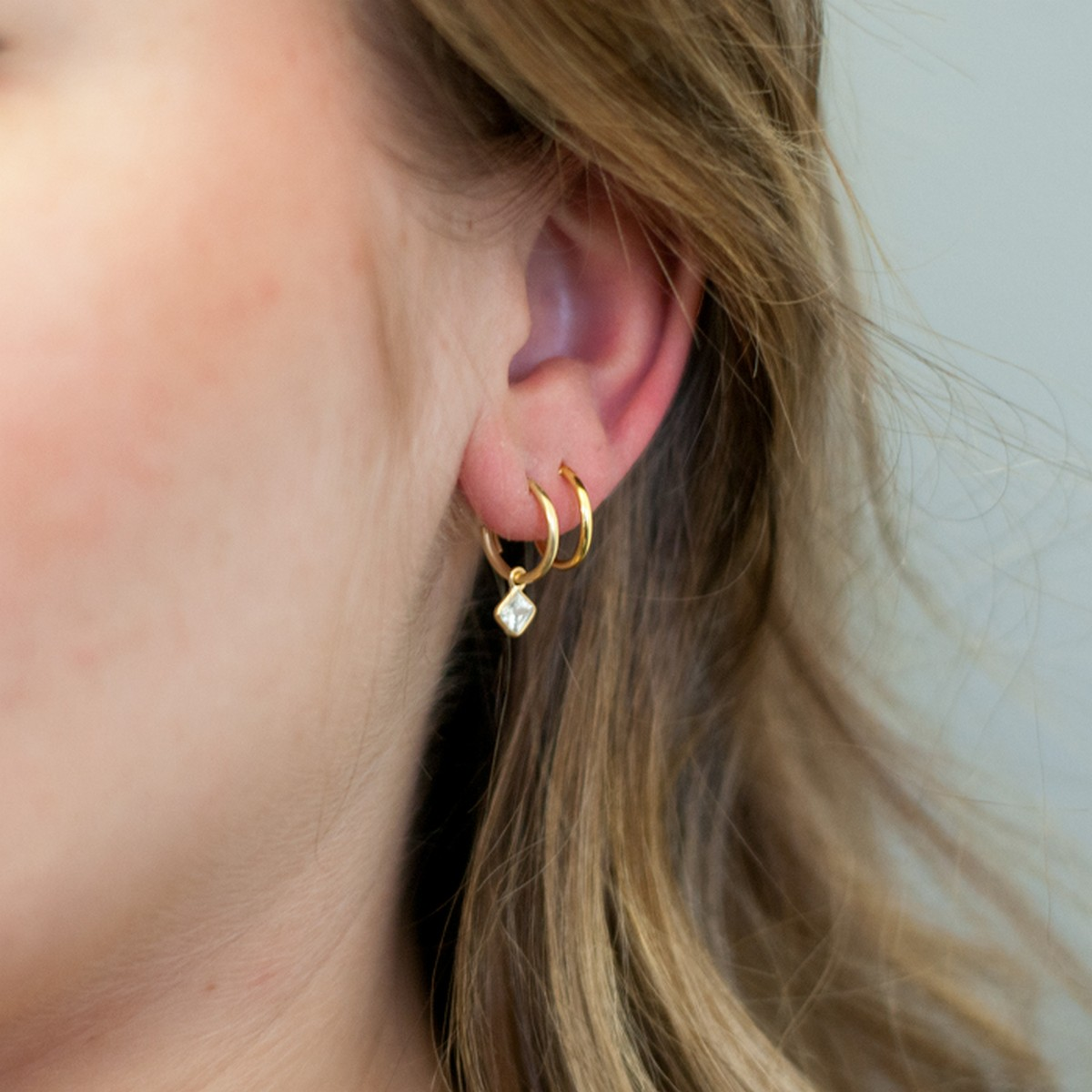 Basic hoops | 8, 10 of 12 mm | Oorbellen goldplated 925 zilver