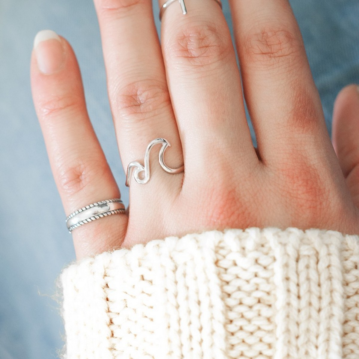 Double Wave | Ring 925 zilver