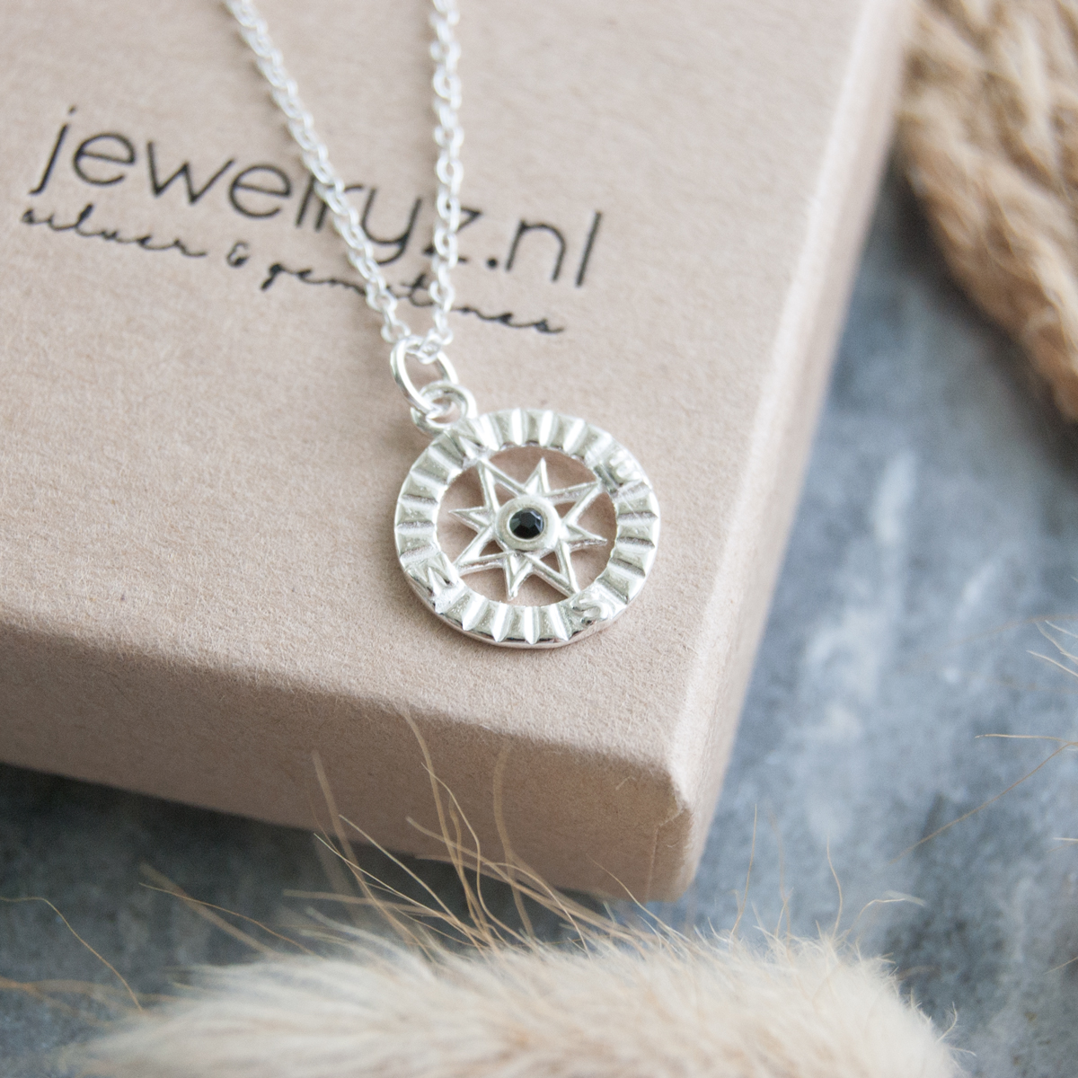 Windrose | Ketting 925 zilver