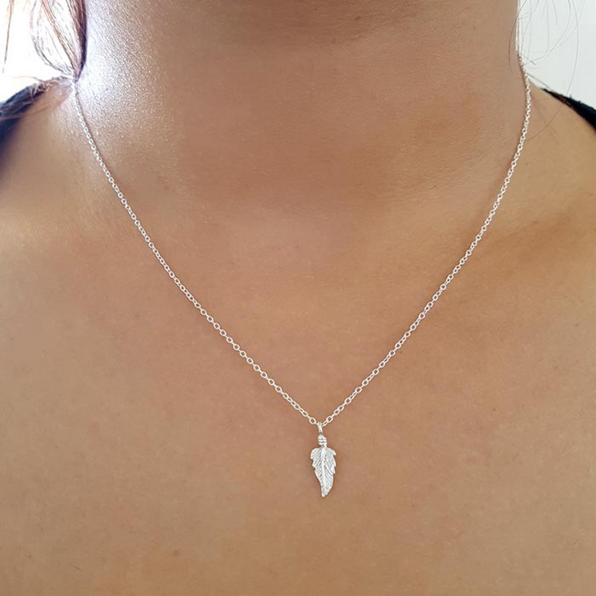 Feather | Ketting 925 zilver