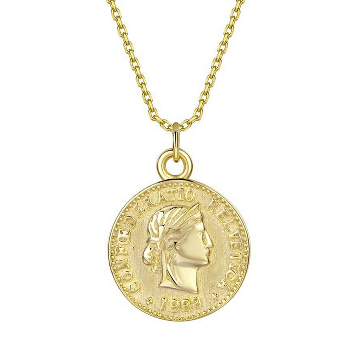 Coin | Ketting goldplated 925 zilver