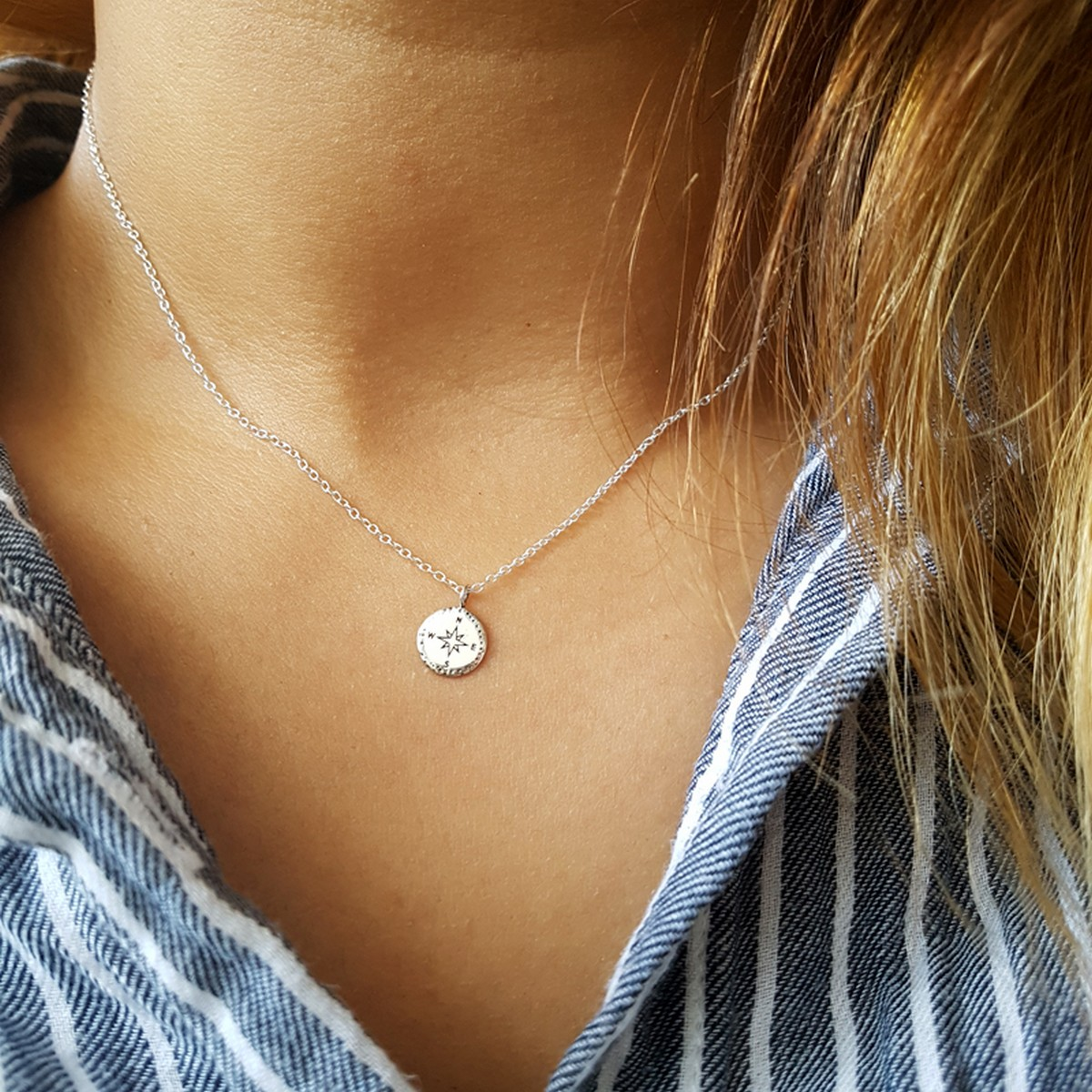Compass | Ketting 925 zilver