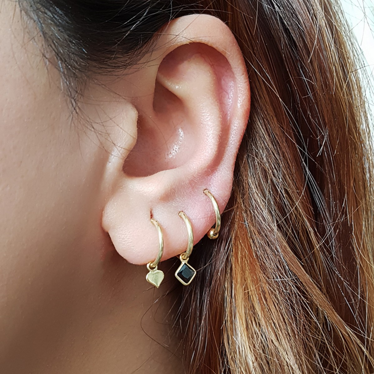 Heart Hoops | Oorbellen goldplated 925 zilver