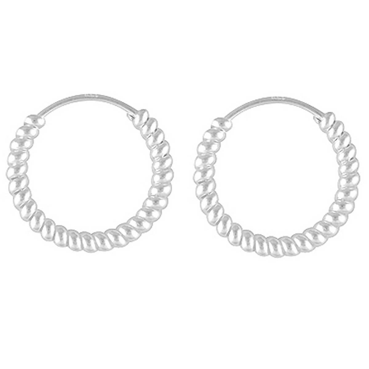 Twisted Hoops | Oorbellen 925 zilver