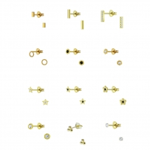 Mini Studs | Oorbellen Goldplated 925 zilver