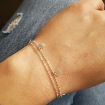 Double Coin | Armband 925 zilver
