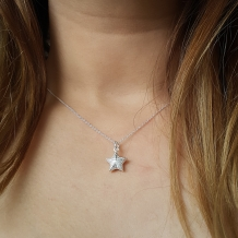 Ster | Ketting 925 zilver