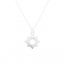 Ster open | Ketting 925 zilver
