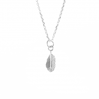 Feather round | Ketting 925 zilver