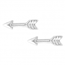 Plain arrow studs | Oorbellen 925 zilver