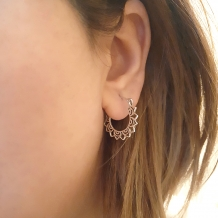 Tribal Hoops | Oorbellen 925 zilver