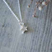 Mini ster | Ketting 925 zilver