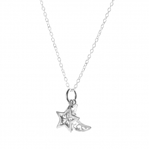 Moon and Star | Ketting 925 zilver