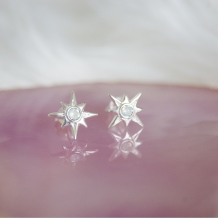 North Pole Star | Oorbellen 925 zilver